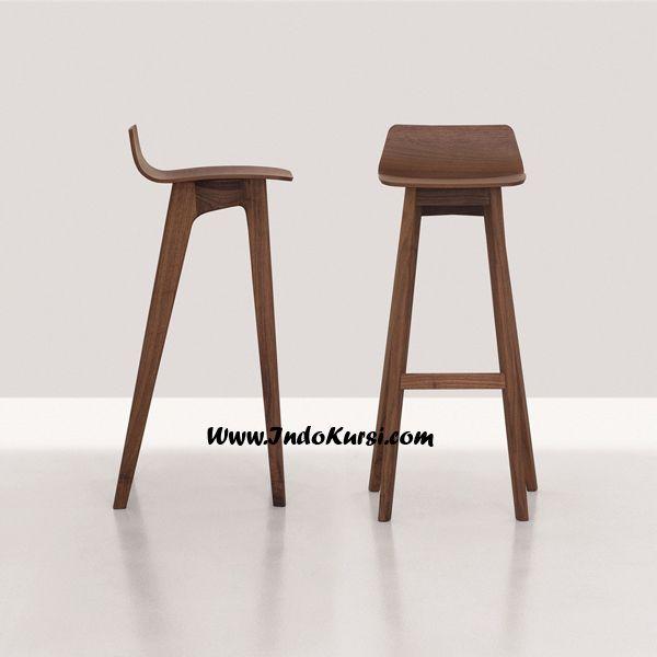 JualKursi Bar Simple Minimalis Kayu Jati merupakan desain Produk Minimalis dengan Posisi dudukan yang nyman dan Lengkung Minimalis untuk Meningkatkan Value Rumah Cafe anda