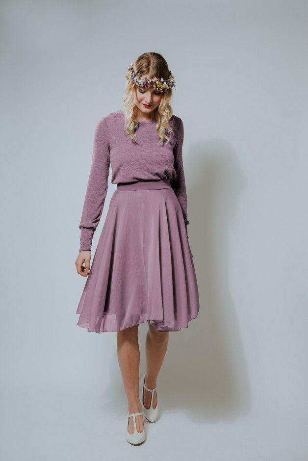 "knielange kleider - kleid ""zuckerwatte rosenholz"