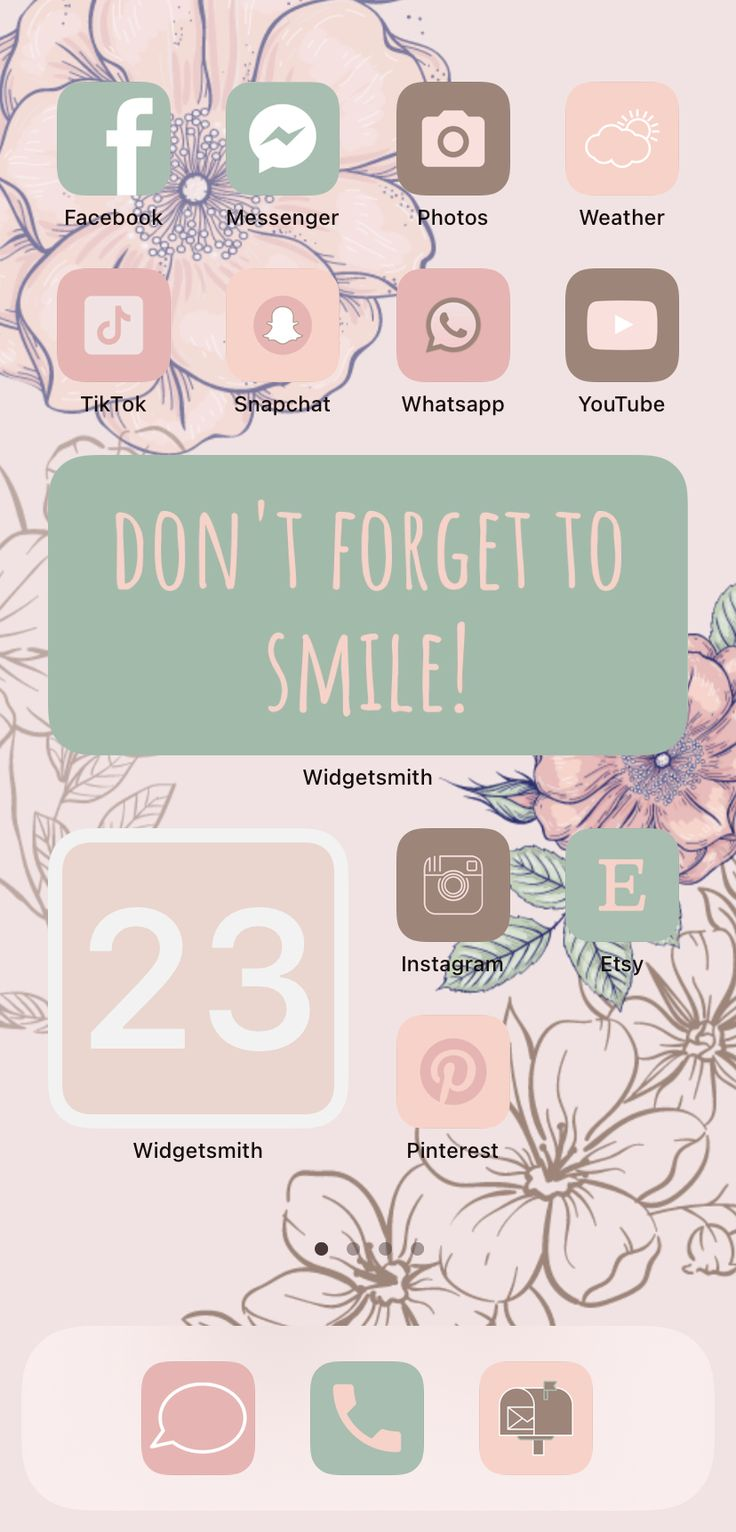 68 BIG PACK Pink Flowers iOS 14 app icons, App Icons for