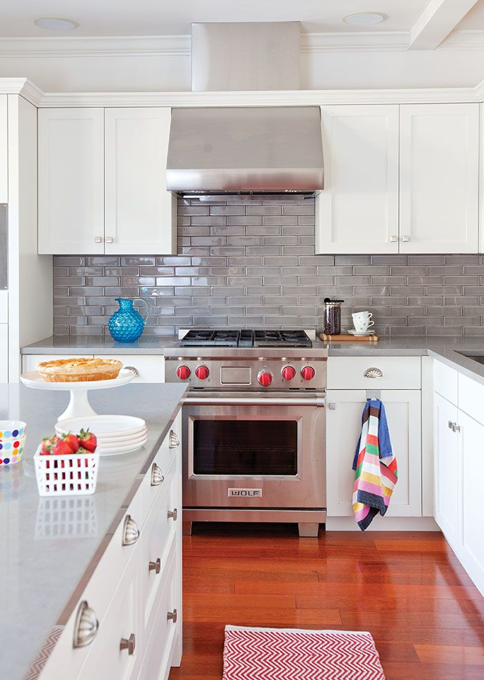 Peek inside an eclectic and contemporary 1,900-sq.ft. home: mini kitchen reno by switching out the backsplash and counters #kitchenreno