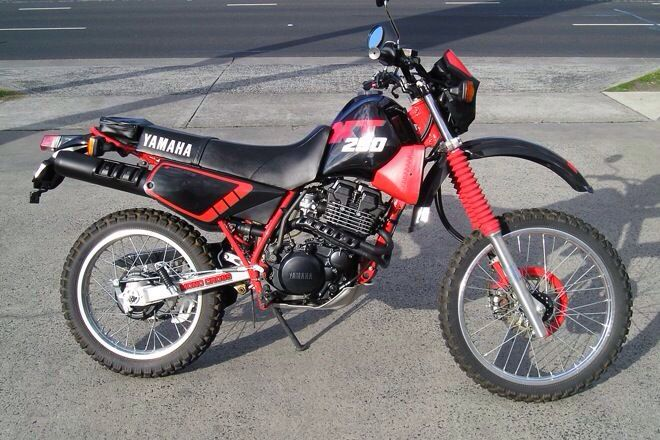 Yamaha XT250T. This is when the XT actually looked like a decent trail bike, a lot like the Honda XL's..