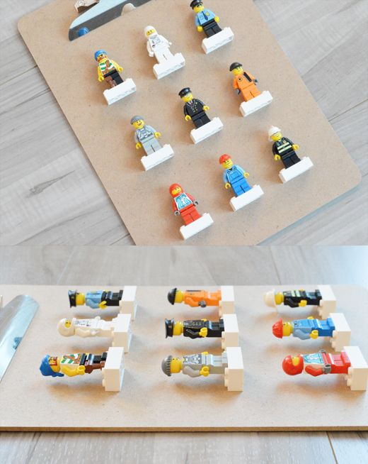 let's get crafty: Lego Man display clipboard