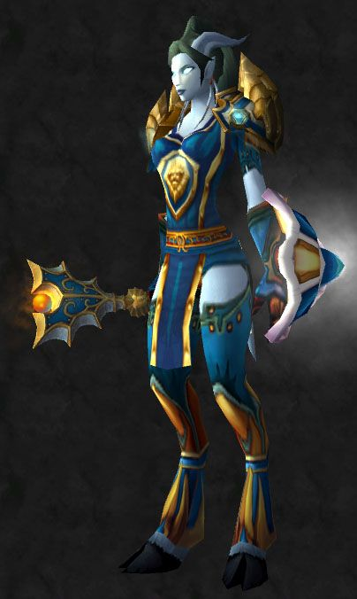 Blue and Gold Paladin #Plate #transmog