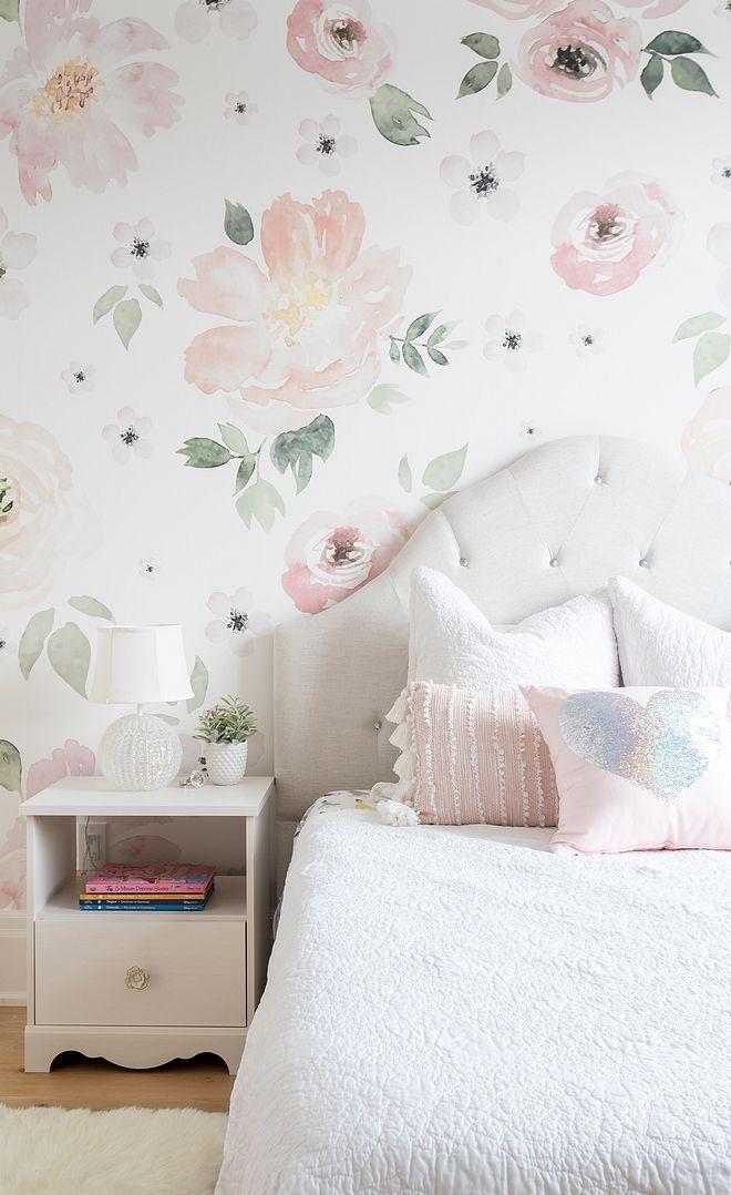 Per le bambine che si sentono principesse o fatine,. Carta Da Parati Moderna Tutto Quello Che Devi Sapere Girls Bedroom Wallpaper Floral Bedroom Floral Wallpaper Bedroom