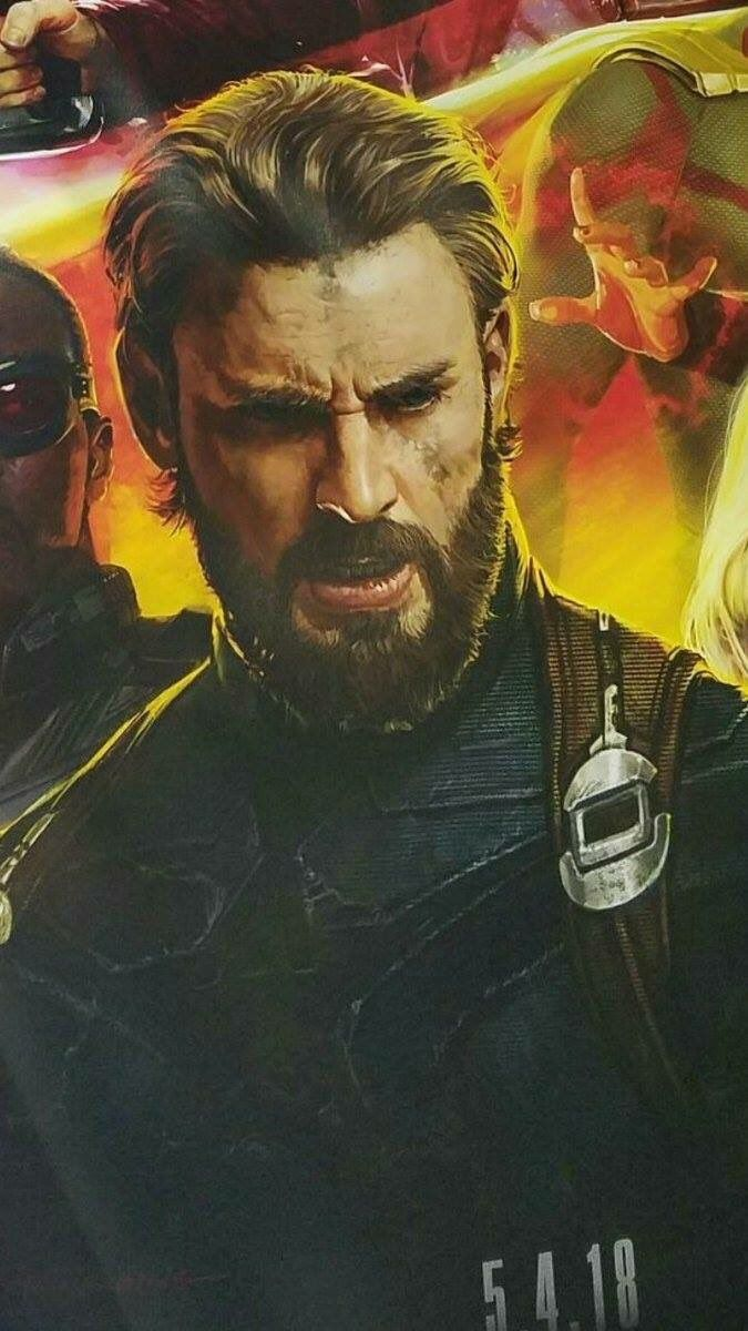 Captain with a beard. Okay but his suit looks like he took his old one and ripped off the logos because he's no longer a part of the Avengers. WHY!!!!