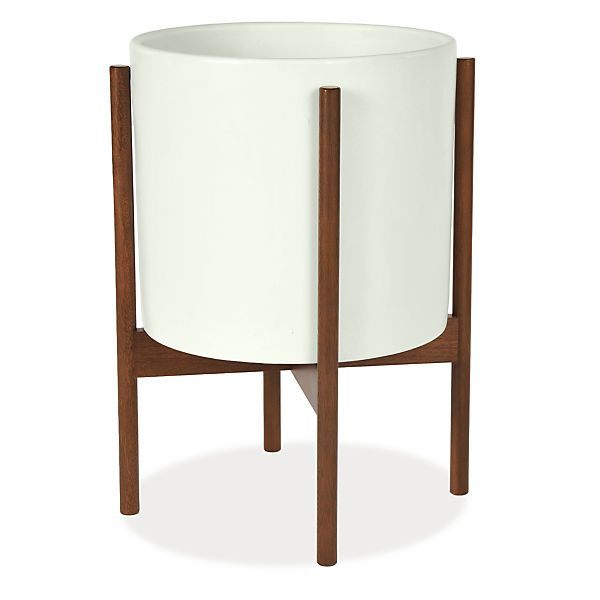 Case Study Modern Planters with Walnut Stand - Modern Planters - Modern Home Accessories - Room & Board