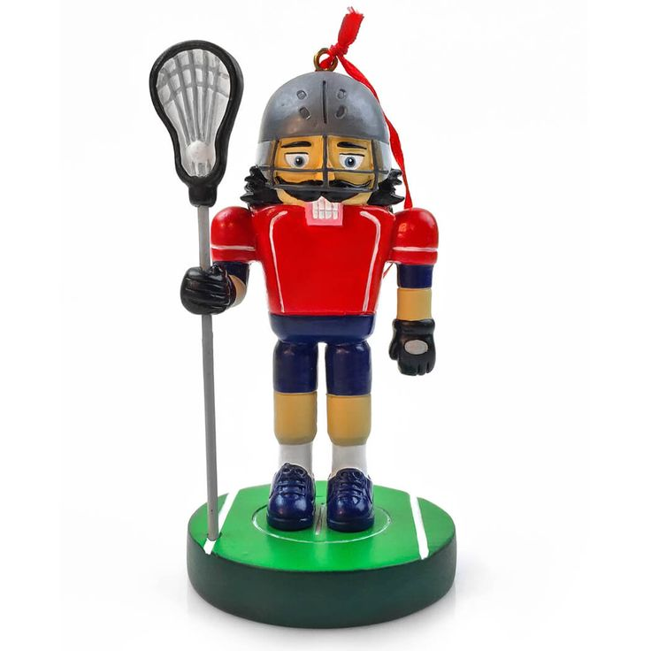 Lacrosse Nutcracker Resin Ornament
