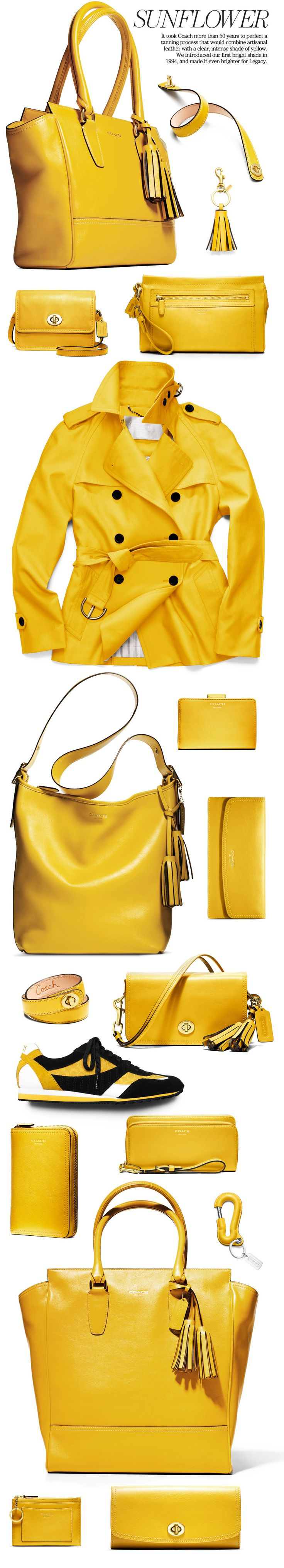 Shop the Coach Legacy Collection in Sunflower Yellow<----I almost fainted #yellowismyfavcolor