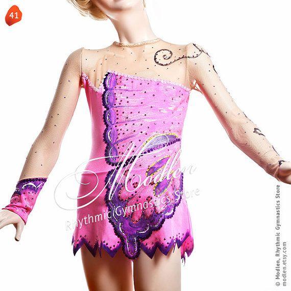 レオタード12新体操レオタードアイスフィギュアスケートドレスアクロバット体操衣装スーツやダンスドレス by Modlen