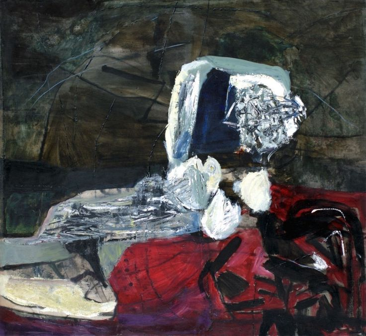 Teresa Pągowska - Akt zielony - nu verte, 1963, olej na płótnie, 120 x 100 cm