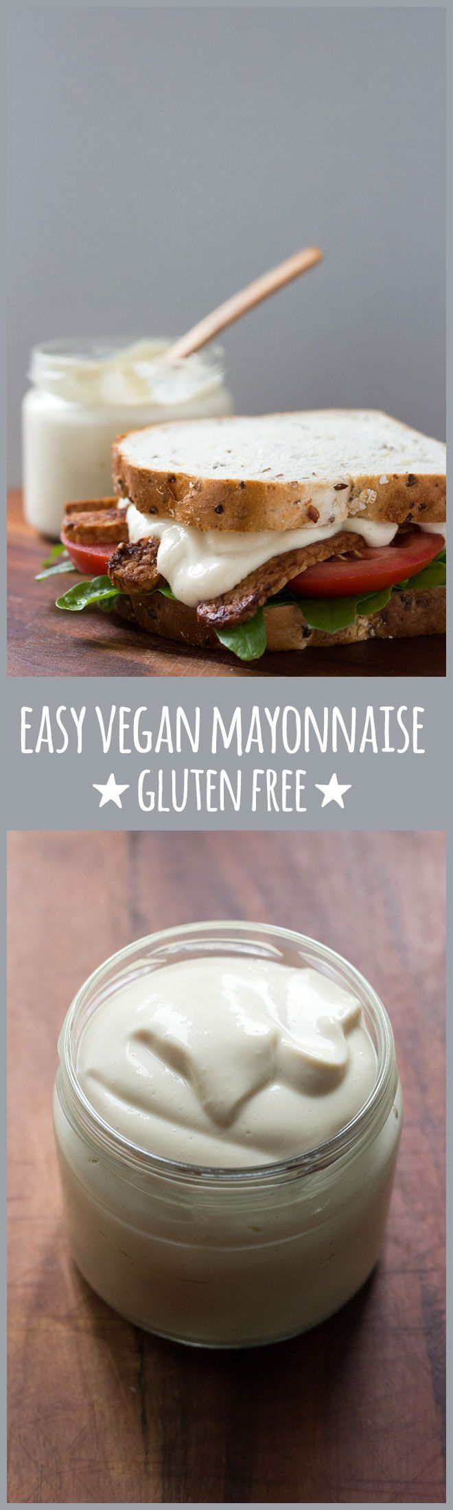 An easy, five-minute eggless mayonnaise with a silken tofu base that's smooth, creamy and everything a good mayonnaise should be. Only 1.6g of fat per serve. (Vegan Gluten Free Cauliflower)