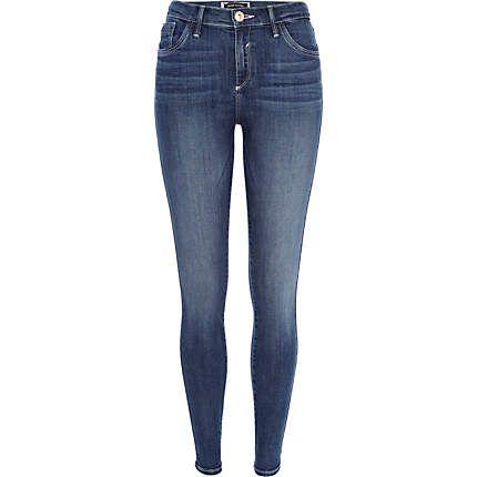 Mid wash Amelie reform superskinny jeans £40.00