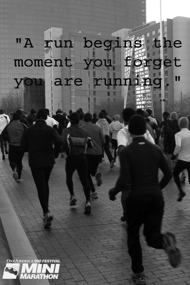 A run begins the moment you forget you are running. #MiniMarathon #500Festival