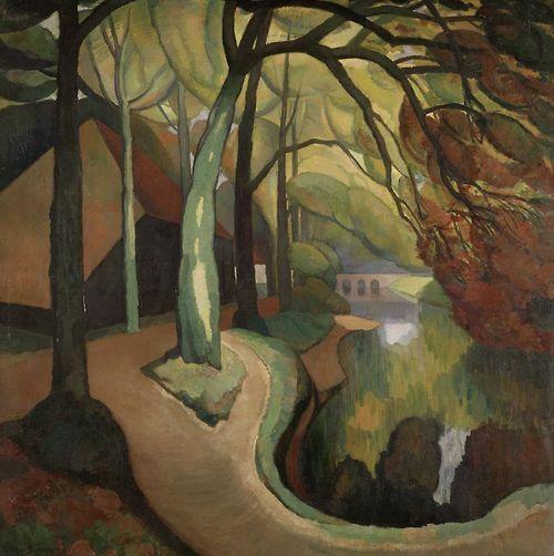 'Black Barn at 't Oude Hof Bergen', 1921-22 - Gerrit van Blaaderen (1873–1935)