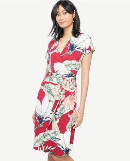 Palm Print wrap dress from Ann Taylor