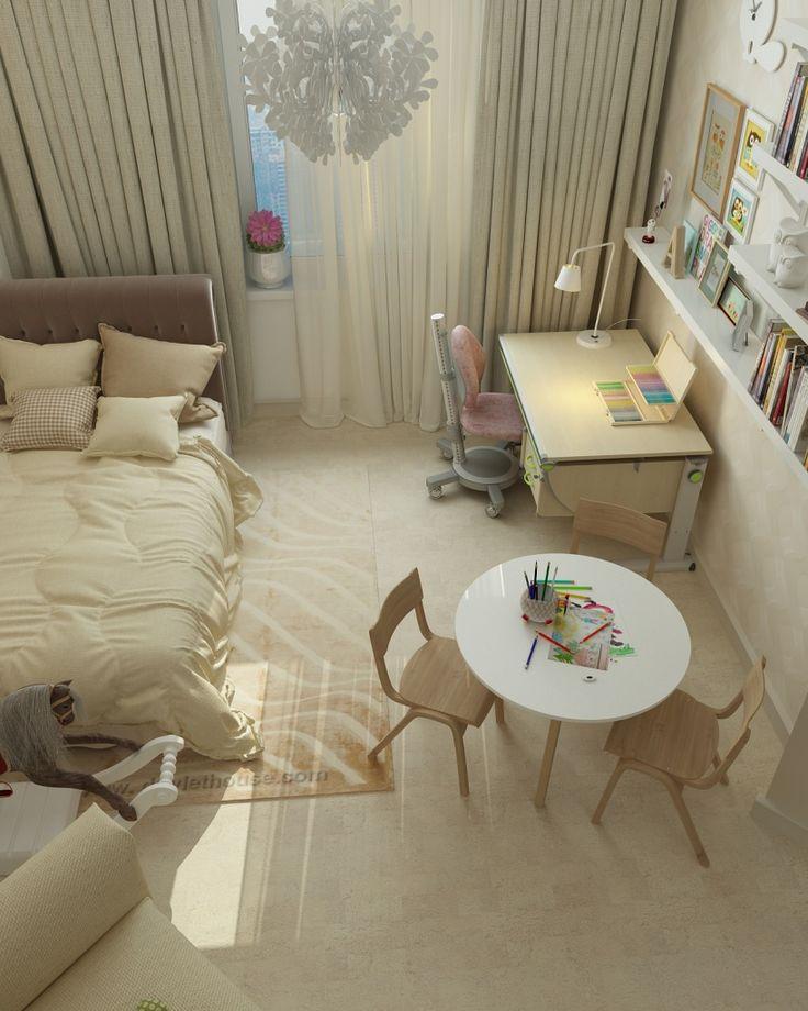 Спокойная цветовая гамма помогает настроится на крепкий сон или сделать домашнее задание без ошибок, а бесится можно и в гостиной)))