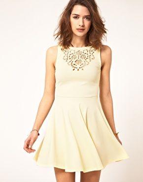 adorable.: Asos Skater, Cutout, Fashion, Style, So Cute, Clothing, Dream Closet, Laser Cut, Skater Dresses