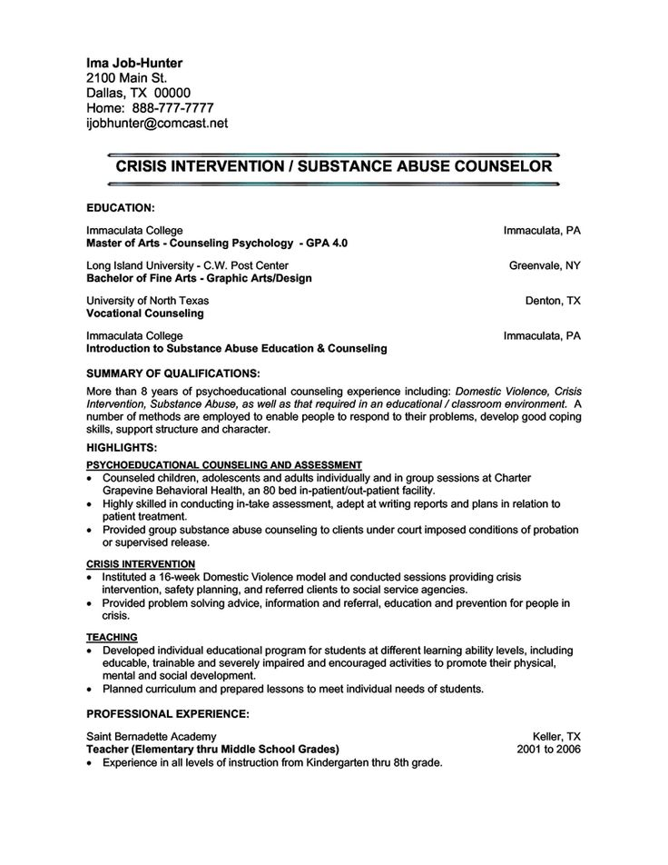 Gives you a loose idea of formatting, spacing, and font for traditional resumes