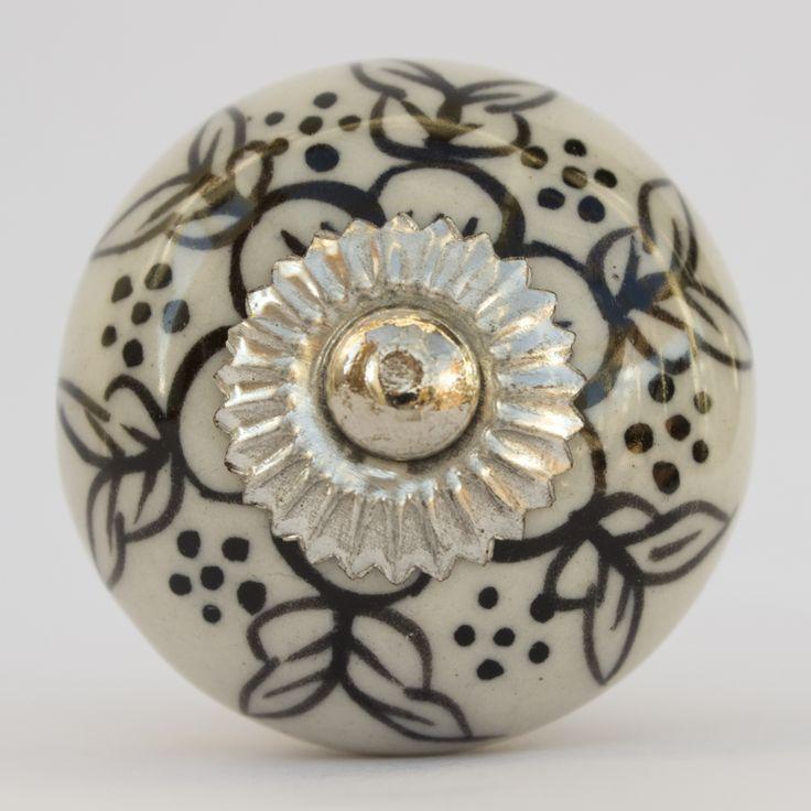 26 best Black and white ceramic knobs images on Pinterest | Ceramic ...