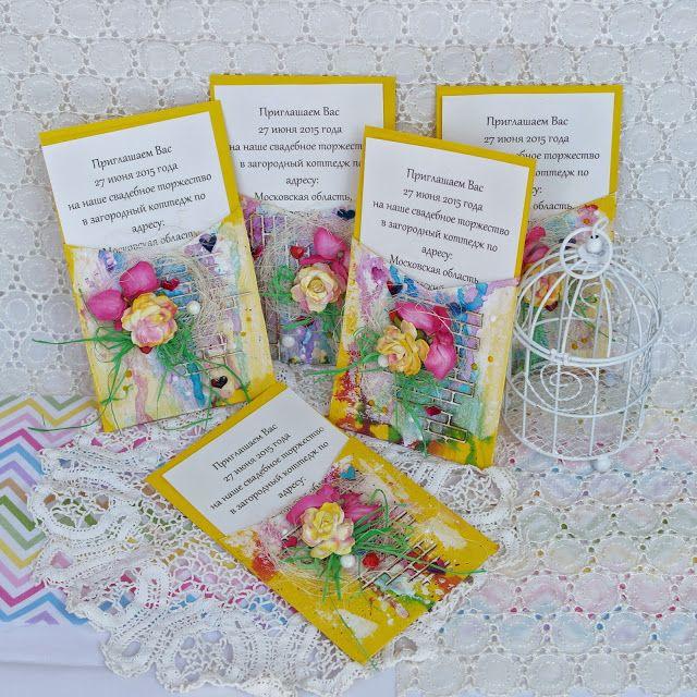 Из бумаги с любовью: Яркие пригласительные на свадьбу