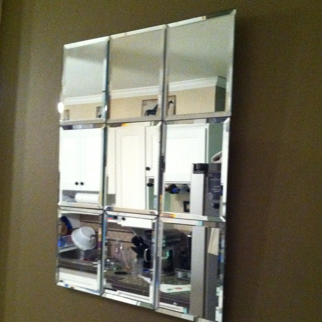 Dollar store mirror project