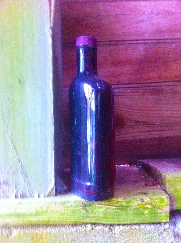 Empty bottle at the Abandoned Cottages ...