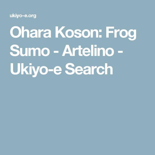 Ohara Koson: Frog Sumo - Artelino - Ukiyo-e Search