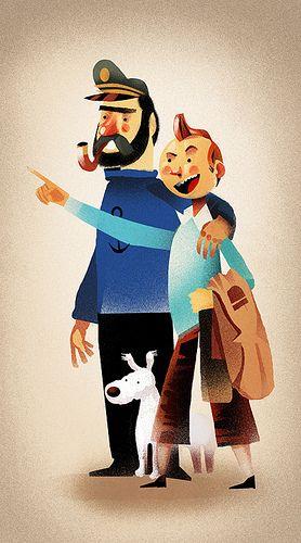 Tintin & Captain Haddock