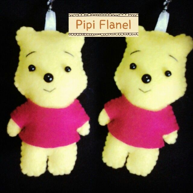 Winnie the Pooh Feltdoll made by Pipi Flanel.. Wanna see our feltdolls collection? Please visit our website at www.pipiflanel.com thank you :)