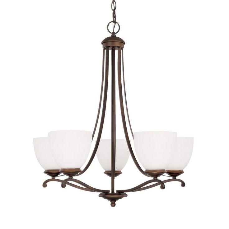 Capital Lighting 3945-202 Chapman 5 Light 1 Tier Chandelier Burnished Bronze Indoor Lighting Chandeliers