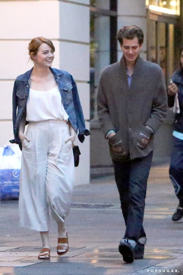 Pin for Later: Emma Stone and Andrew Garfield Have a Friendly Reunion in London