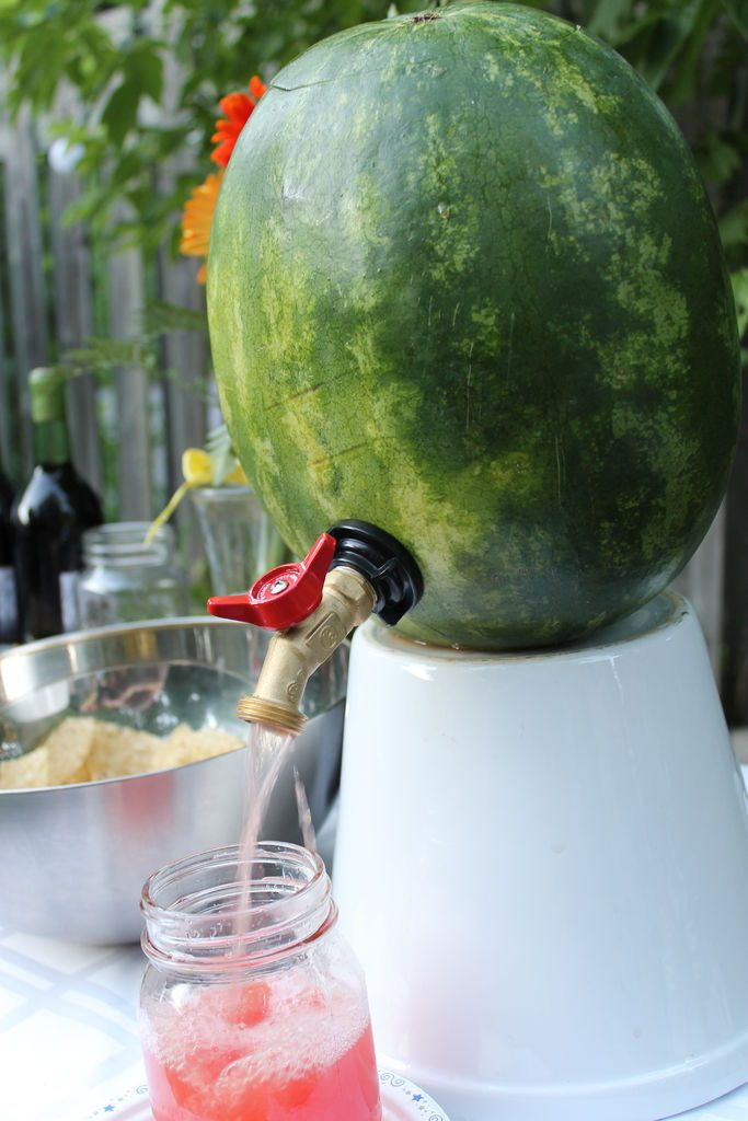 How to Make a Watermelon Keg.  We are so doing this for our summer parties!!!