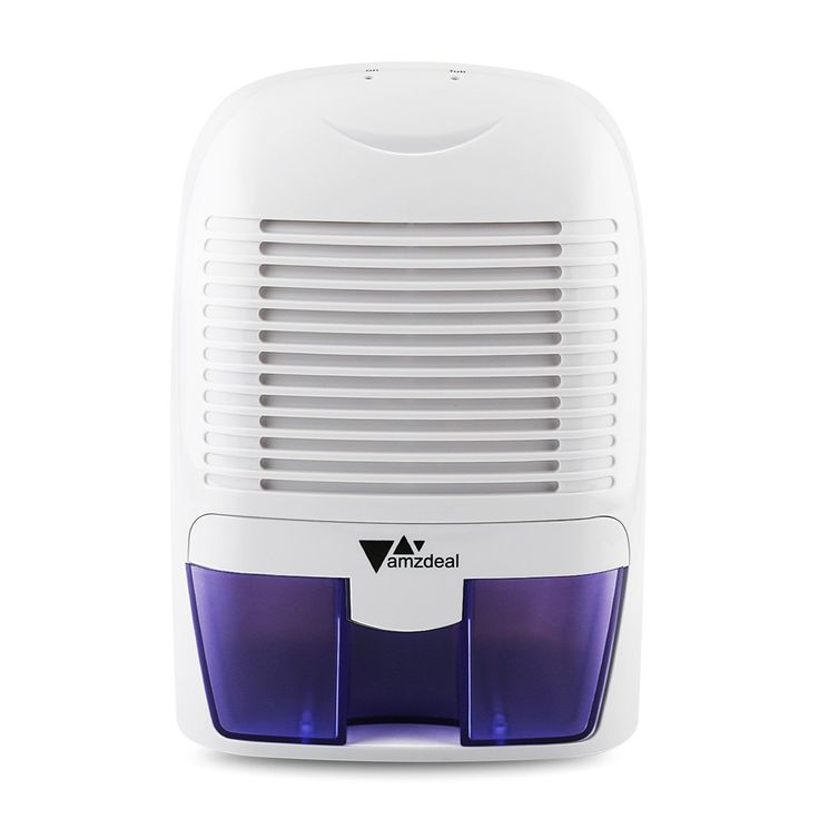 Amzdeal Portable Dehumidifier Electric Compact Dehumidifier 700ml/day Dehumidification Air Dryer Dehumidizable area 215 - 322 sq.ft with 1500ml Water Tank for Room Clothes Drying