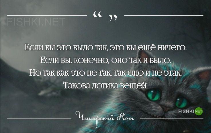 Чеширский Кот,цитаты