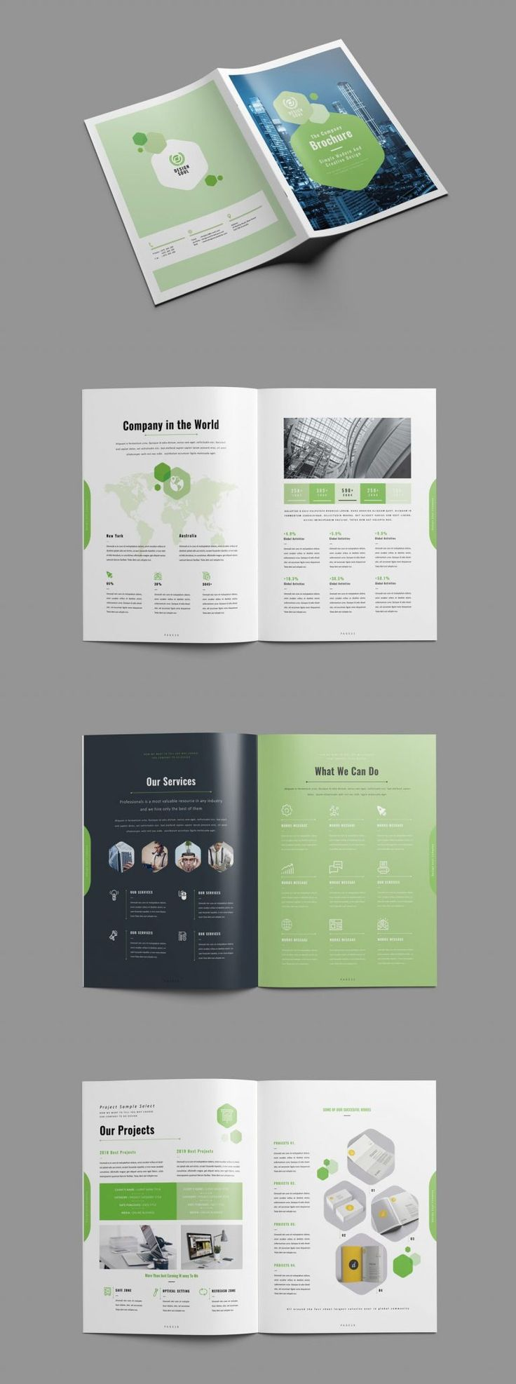 Clean and Creative Brochure Template INDD