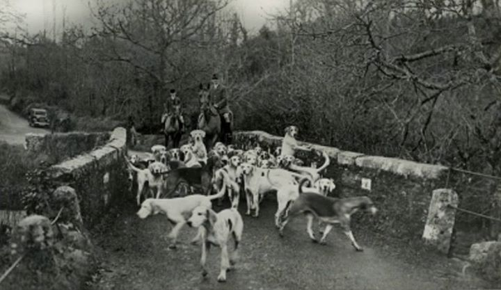 North Cornwall Hounds at St Breward in 1940
