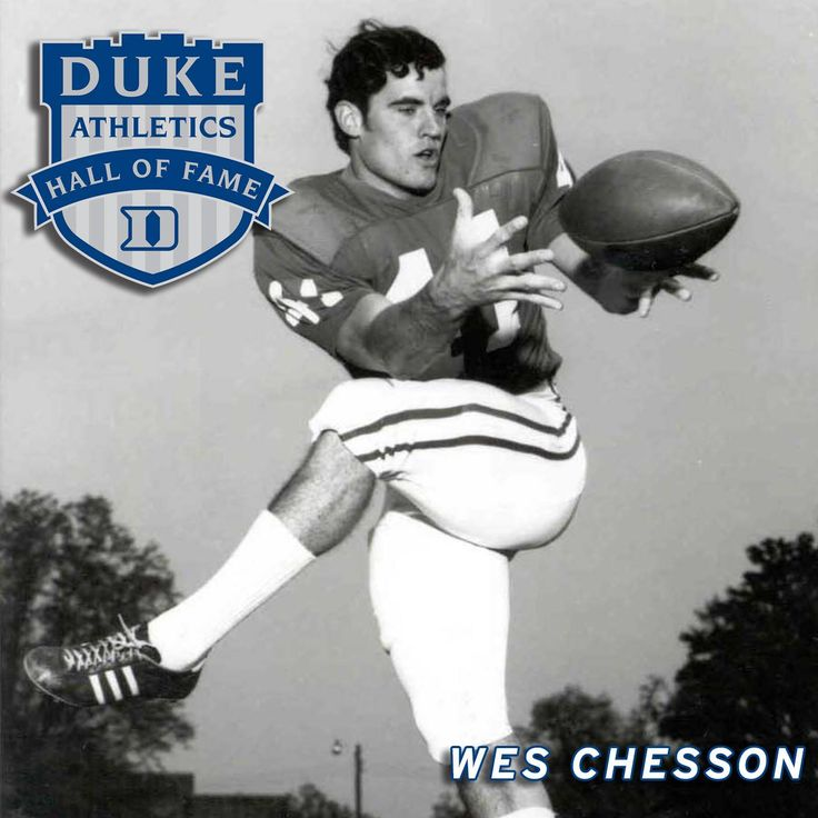 Congrats to 2013 Duke Hall of Fame inductee Wes Chesson! Wes, an All-ACC and All-America honoree, starred on Duke Football from 1968-70, catching 164 passes for 2,399 yds & 10 TDs, while punting 153 times for 5,553 yds! Be sure to join us for Hall of Fame weekend (Oct. 11 & 12) – Tickets on sale now: http://goduke.us/1eXyiNm! #GoDuke