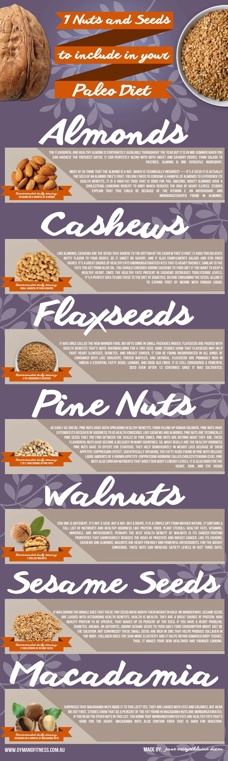 7 Healthy Nuts And Seeds To Include In Your  Paleo Diet - The Paleo Diet