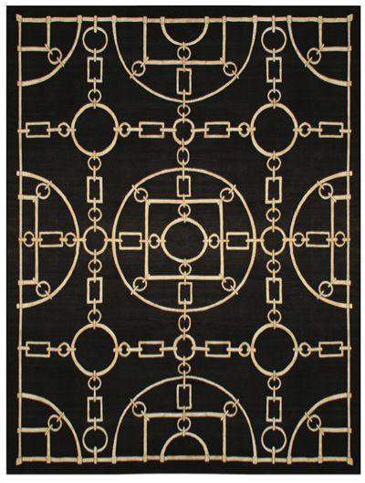 black channel rug
