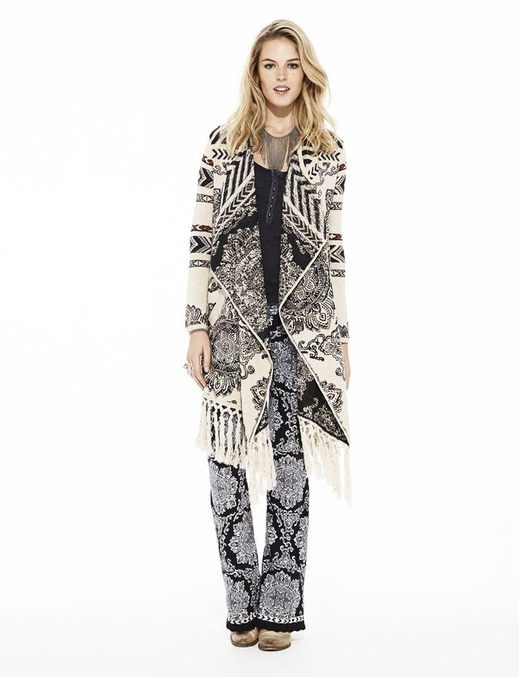 Odd Molly buzzard long cardigan 615M-628 and buzzard leggings 615M-647 | FW15 Lookbook | Knitwear