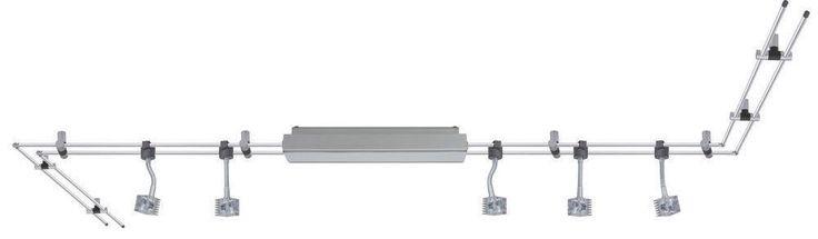 97865 Paulmann LED Rail Schienensystem GEO Chrom matt 5x3W 12V Stangensyystem