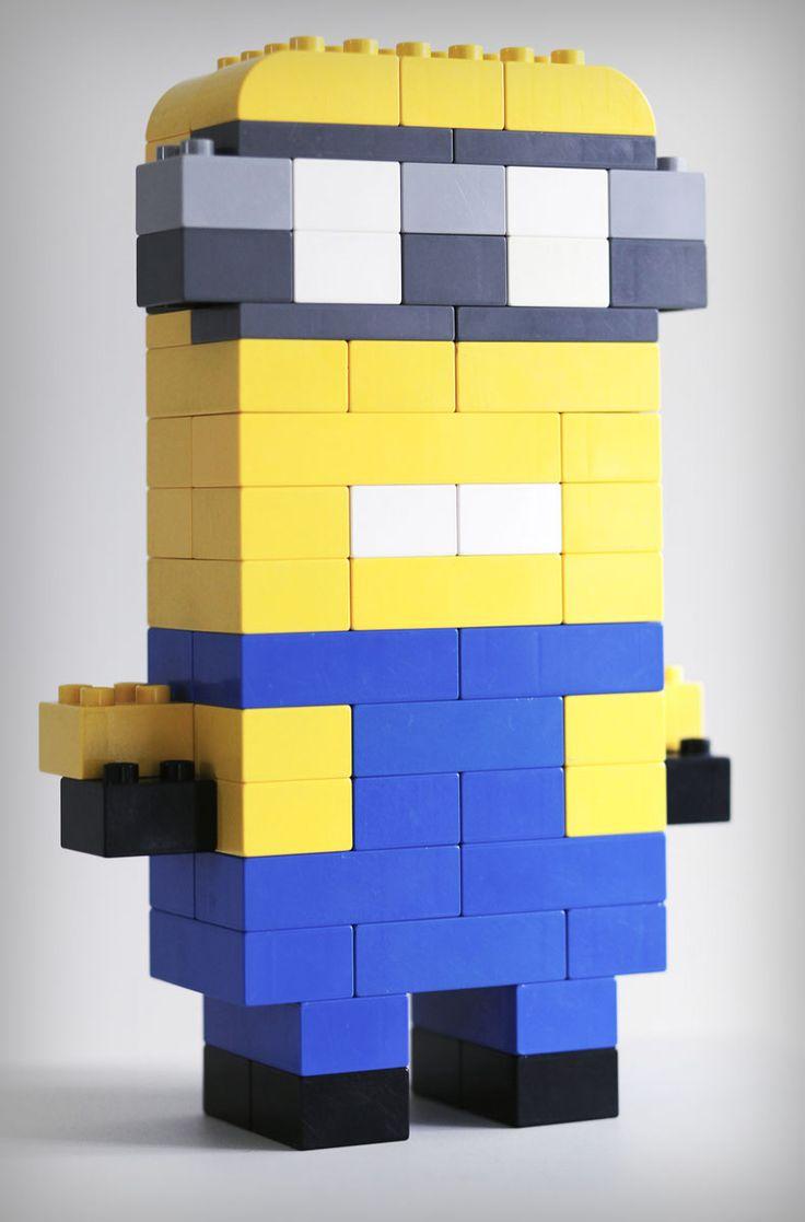 die besten 17 ideen zu lego minion auf pinterest lego lego bauen und lego kreationen. Black Bedroom Furniture Sets. Home Design Ideas