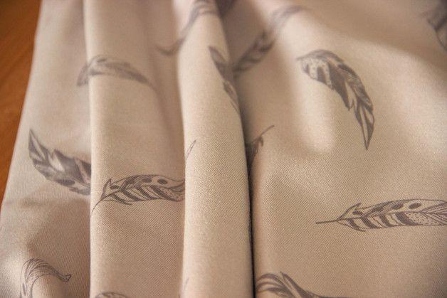 Weiteres - Jersey Stoffe Feder sand - ein Designerstück von Leinen-Lodge bei DaWanda