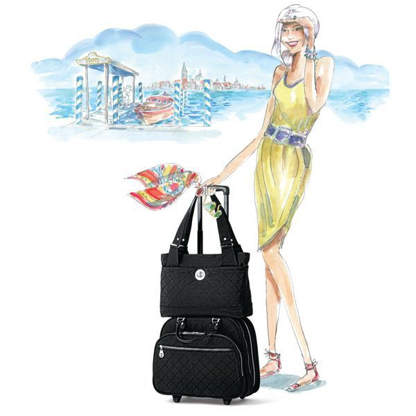 Travel Luggage International Flights And Flight Attendant