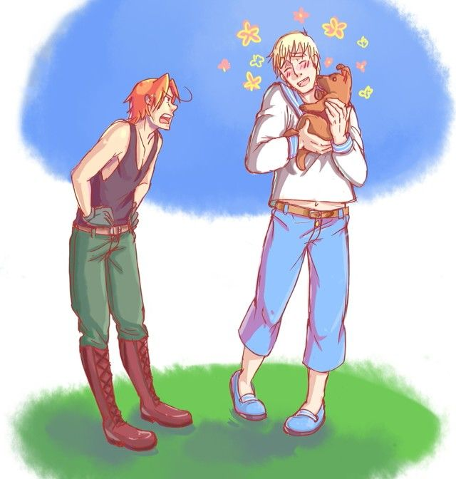 Hetalia - Germany and Italy switch personalities xD **Honey Bunches of Nope**<<< I love this to no end
