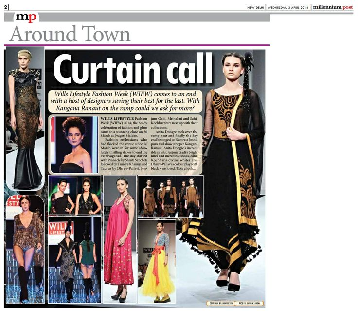 Designer Tanieya Khanuja_  Millennium Post Coverage _ 2nd April'14