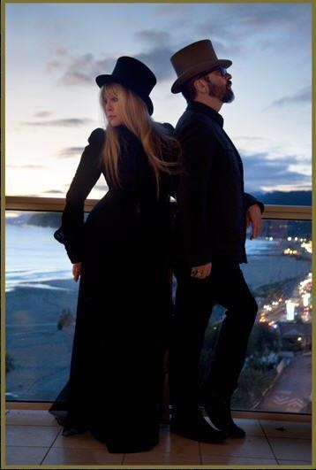 Stevie and Dave Stewart in costume ~ ☆♥❤♥☆ ~   for the making of Stevie's 2011 album 'In Your Dreams'