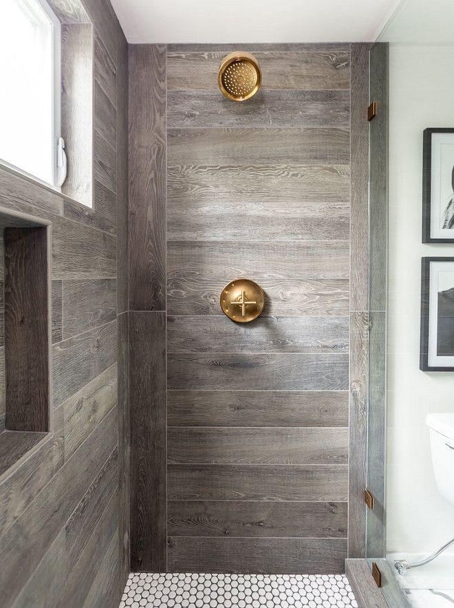 Best 25 Wood Tile Shower Ideas On Pinterest Rustic Shower Master Shower And Shower Niche