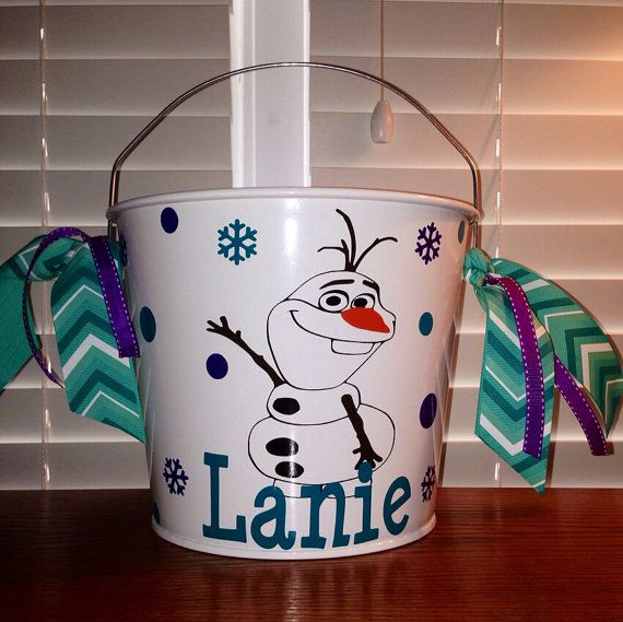 fashion online shopping malaysia FROZEN inspired Olaf bucket by kellyspolkadots on Etsy, $25.00