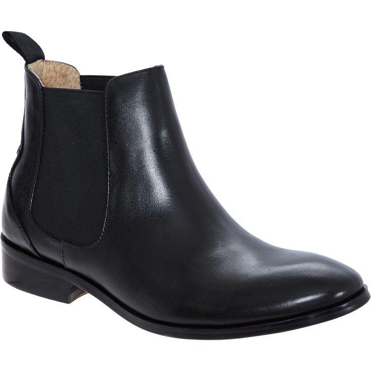 163 39 99 quot jasper quot black leather chelsea boot tk maxx